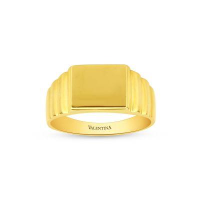 Pánsky prsteň zo žltého zlata