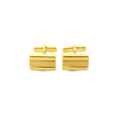 Manžetové gombíky zo žltého zlata