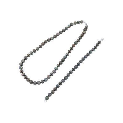 Náhrdelník s čiernymi perlami