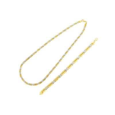 Náhrdelník zo žltého a bieleho zlata