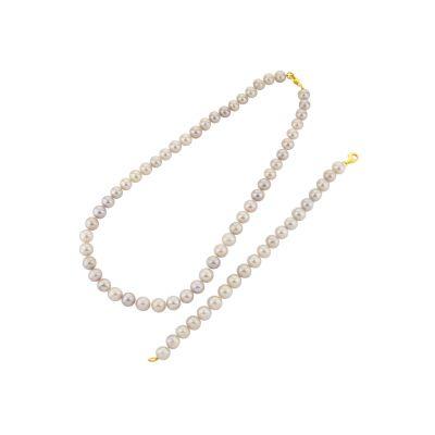 Náhrdelník s bielymi perlami