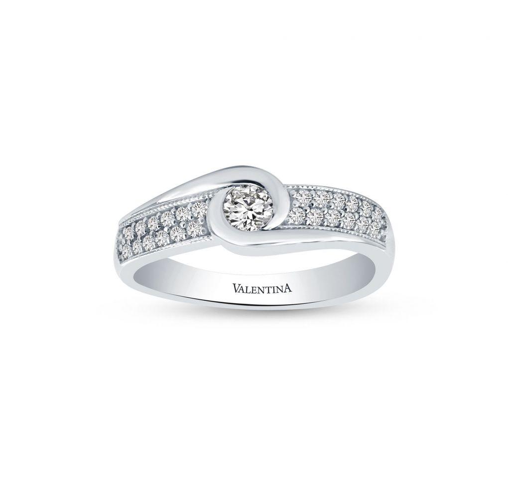 93d3d352a Prsteň z bieleho zlata so zirkónmi - Klenotníctvo Valentina