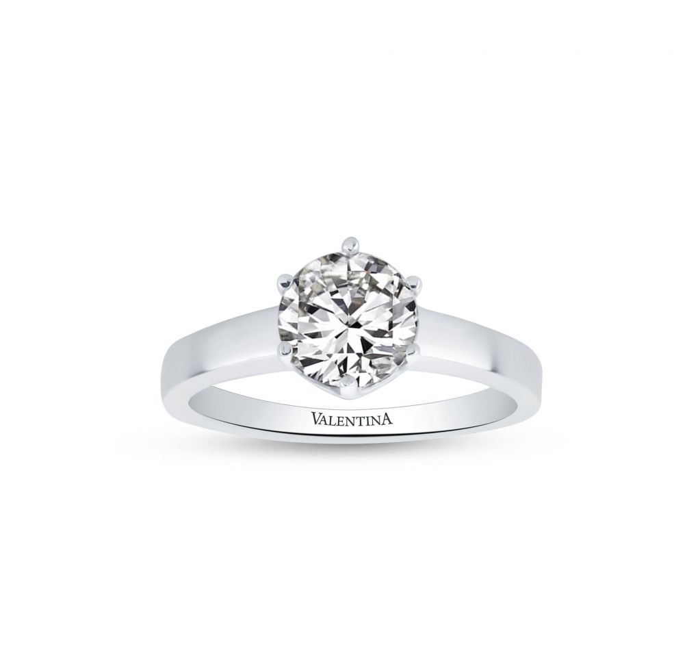 832477183 Prsteň z bieleho zlata so zirkónom - Klenotníctvo Valentina